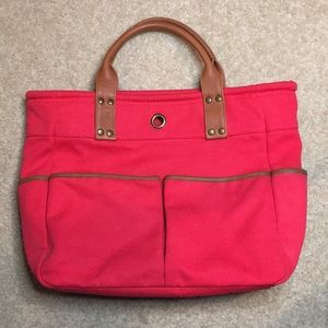 Levenger 'Bloomsbury' Canvas Leather Tool Tote